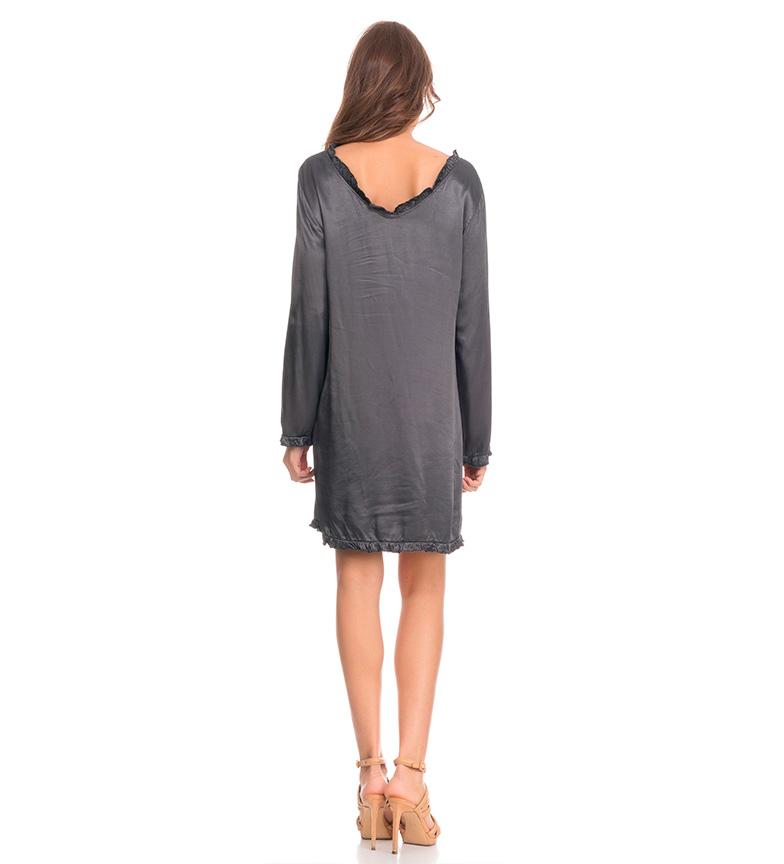 Tantra Vestido satinado gris