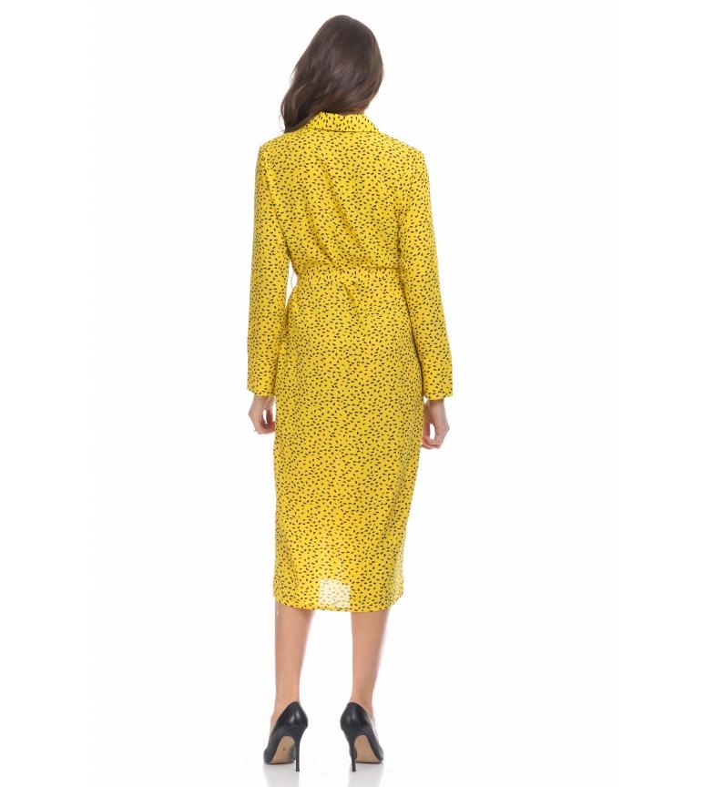 811c54cbd6 Tantra - Vestido camisero amarillo Mujer chica Casual Rojo Poliéster ...