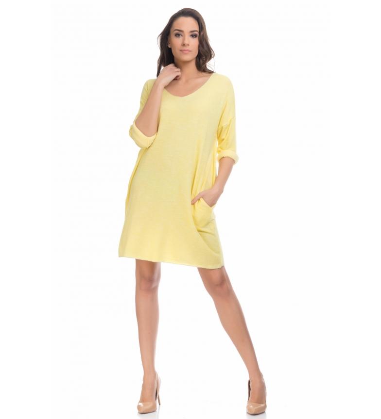 Tantra Vestido Tantra De Amarillo Punto Tantra De Punto Amarillo Vestido fyb76g