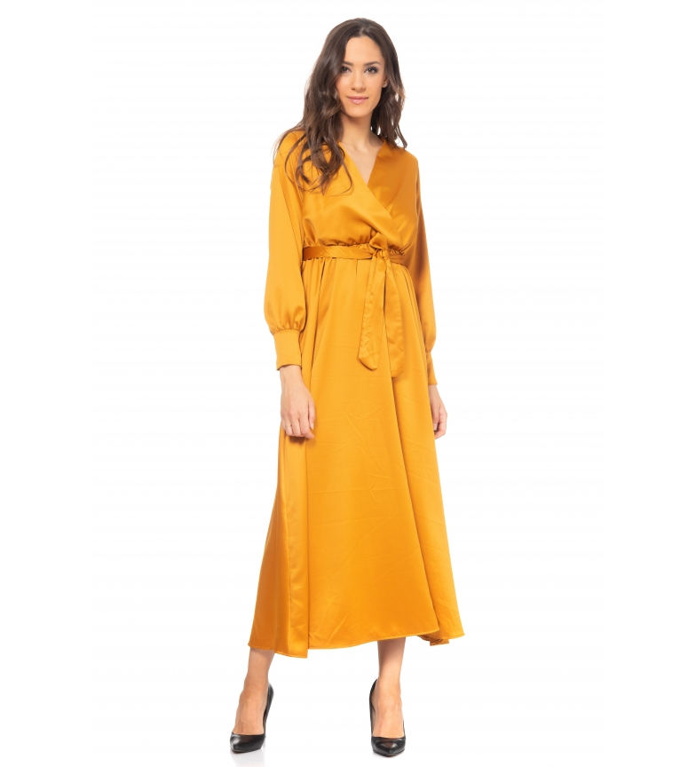 Comprar Tantra Mustard satin dress