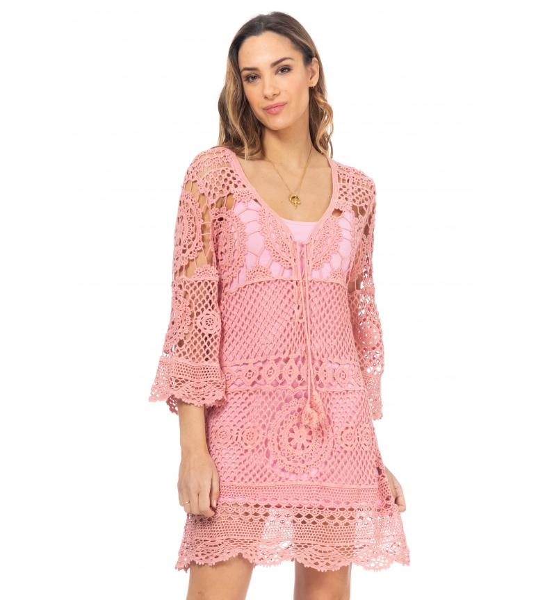 Comprar Tantra Vestido de Crochê Rosa