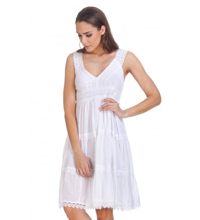 Comprar Tantra Vestido Tirantes Cuello de Pico blanco