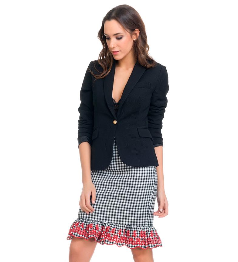 Comprar Tantra Black button blazer