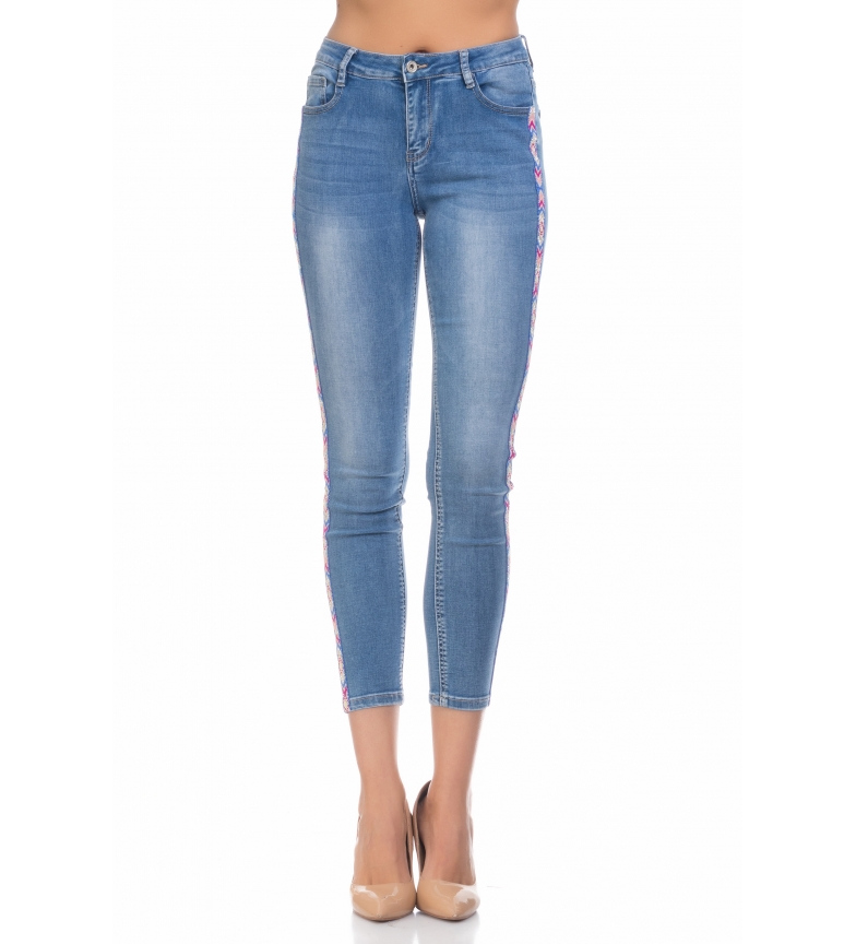 Abalorios Jeans Lateral Con Cinta Tantra FJcK1l
