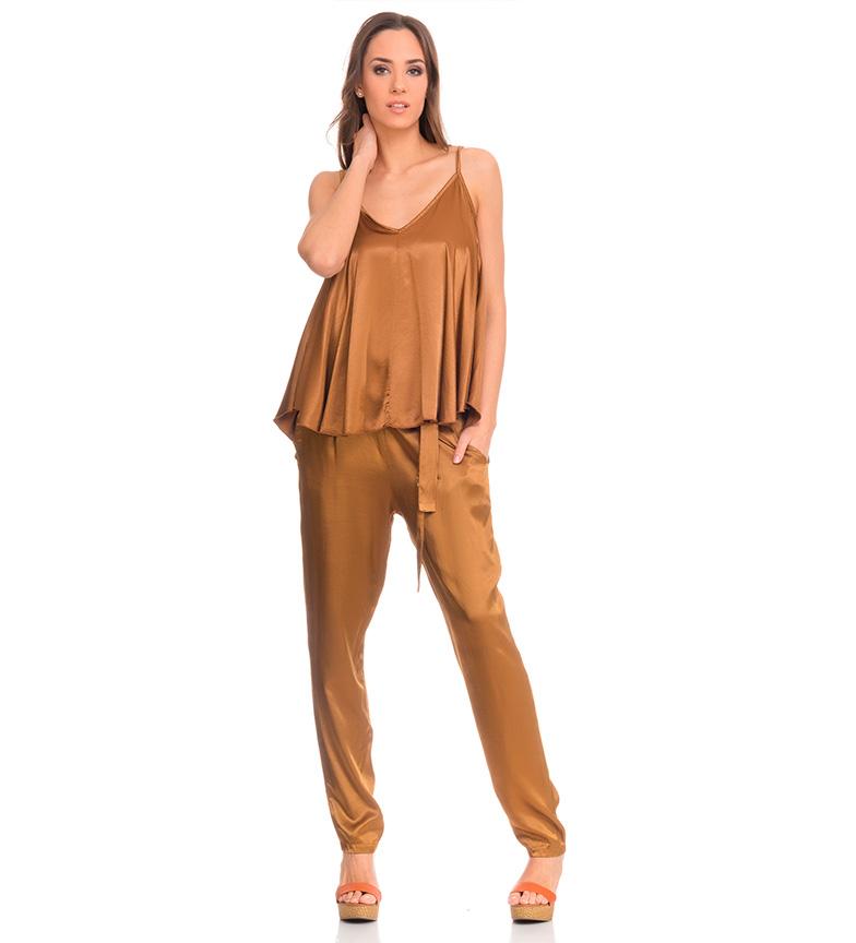 Tantra Pantalones satinados dorado
