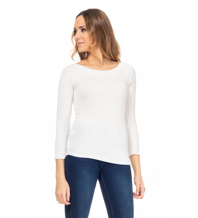 Comprar Tantra T-shirt bianca con scollo a barchetta