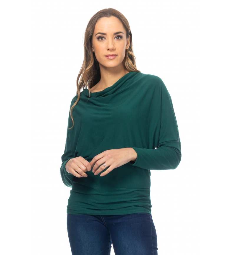 Comprar Tantra Boat collared T-shirt with green Murcielago sleeve