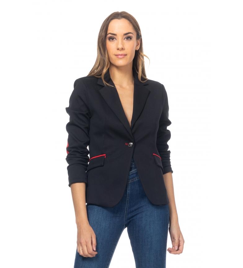 Comprar Tantra Casaco com cotovelos e guarnições pretas vermelhas