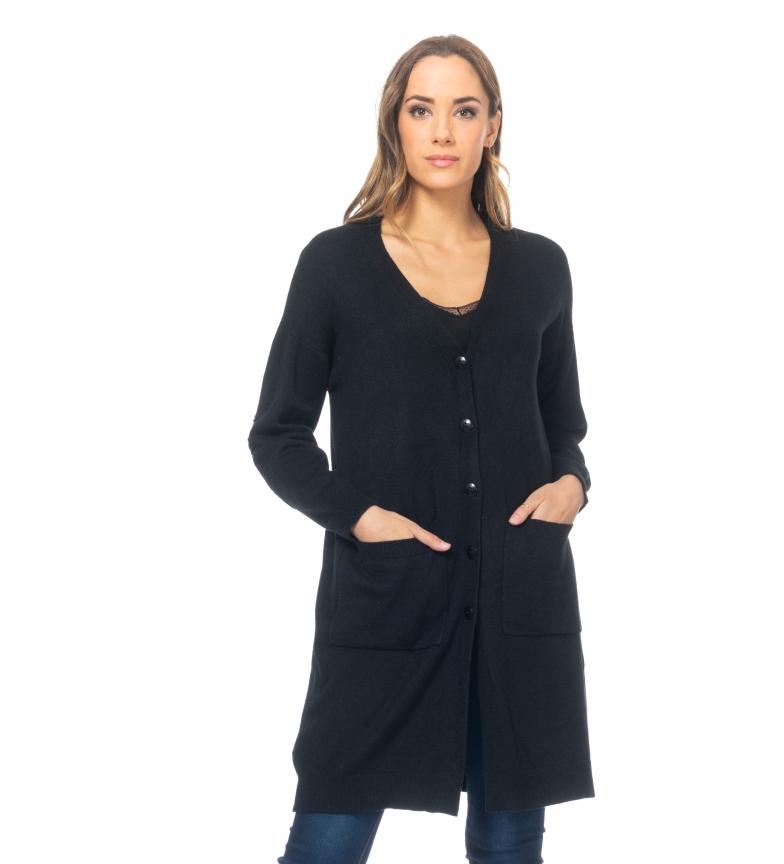 Comprar Tantra Giacca lunga in maglia con paracolpi per gomiti neri