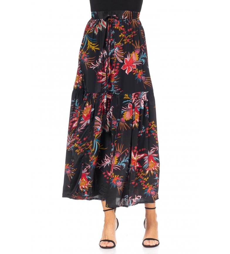 Comprar Tantra Jupe longue avec imprimé de fleurs noires