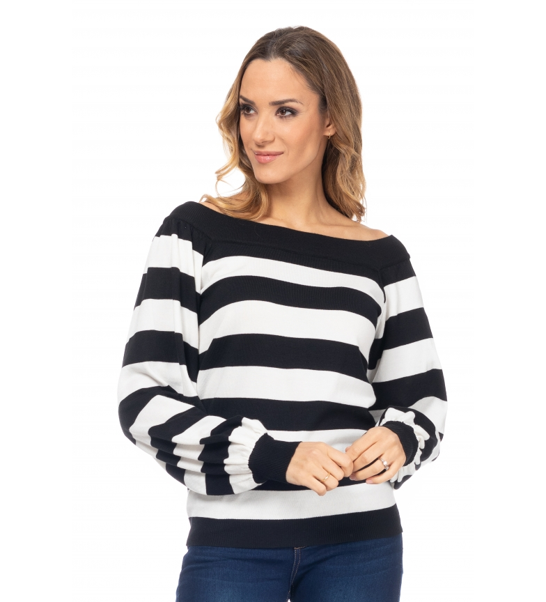 Comprar Tantra Black Striped Knit Sweater