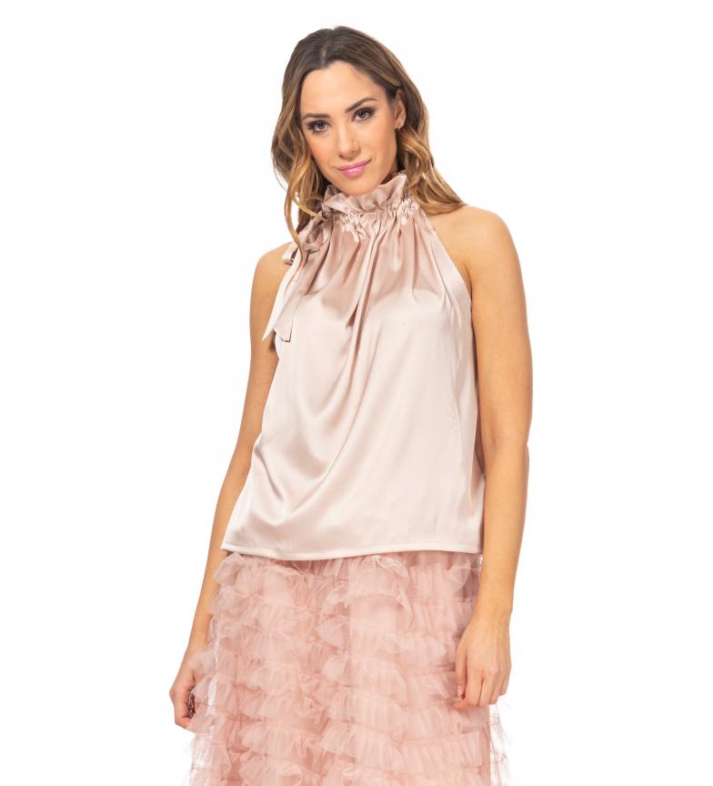 Comprar Tantra Tampo em cetim com pescoço enrugado cor-de-rosa