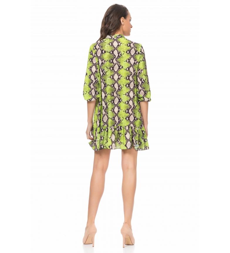 Tantra Verde Print Animal Vestido nOwmNv08