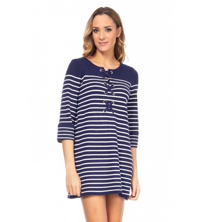 Comprar Tantra Blue Striped Knitwear Dress