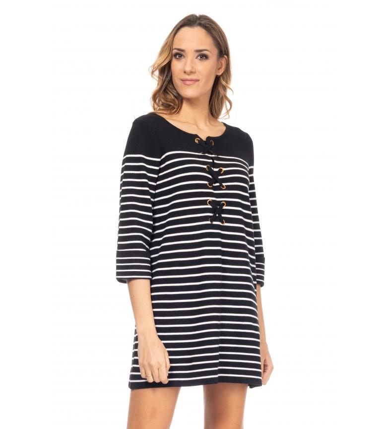 Comprar Tantra Wide Striped Knit Dress Black