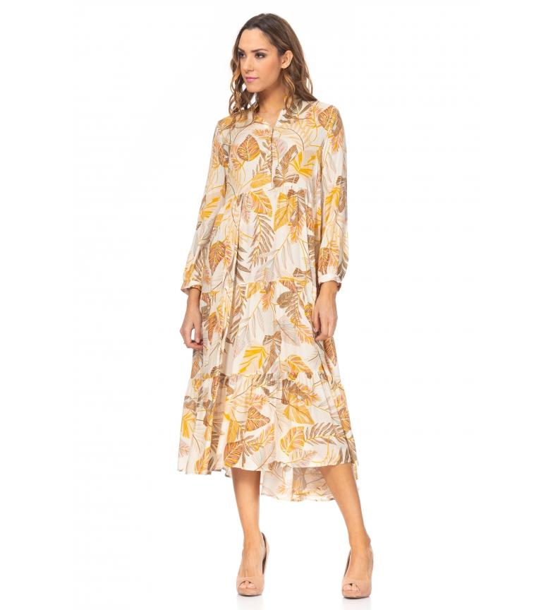 Comprar Tantra Abito ampio con stampa floreale gialla