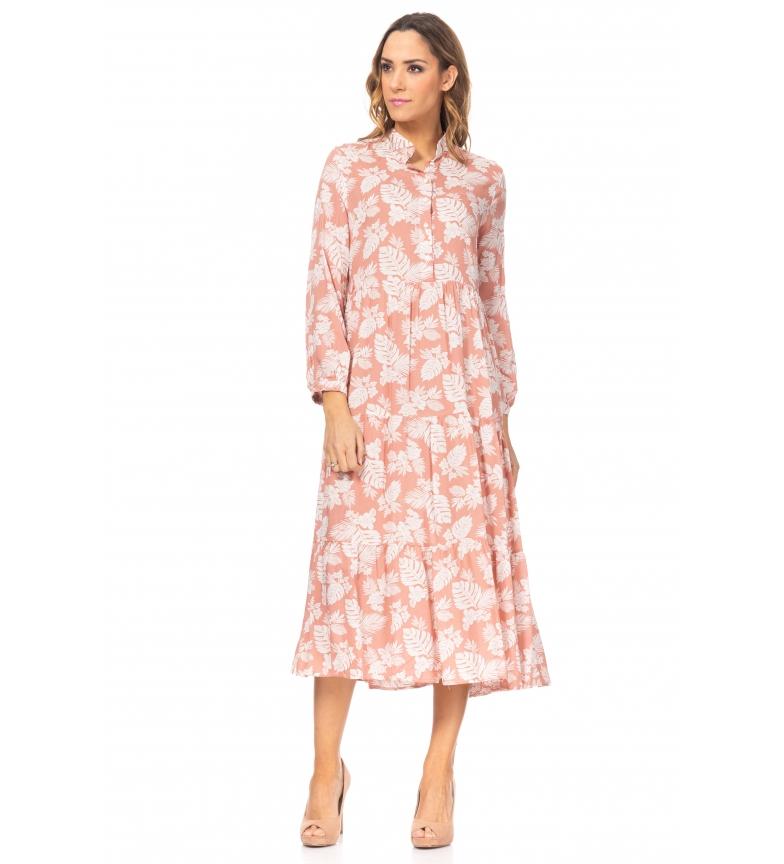 Comprar Tantra Vestido Ancho Estampado de Flores rosa