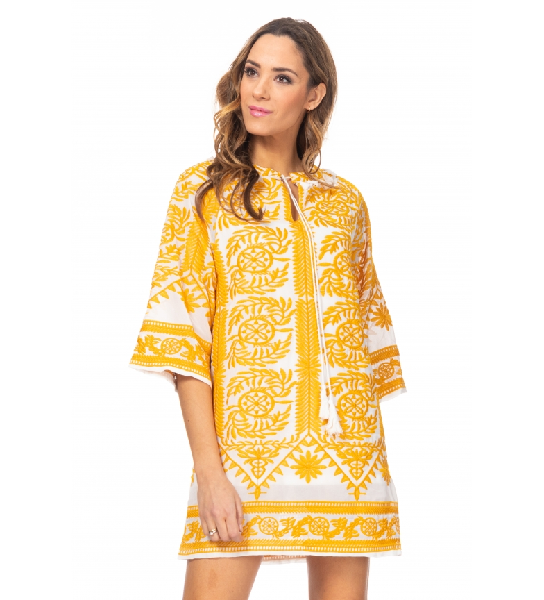 Comprar Tantra Dress Embroidery yellow