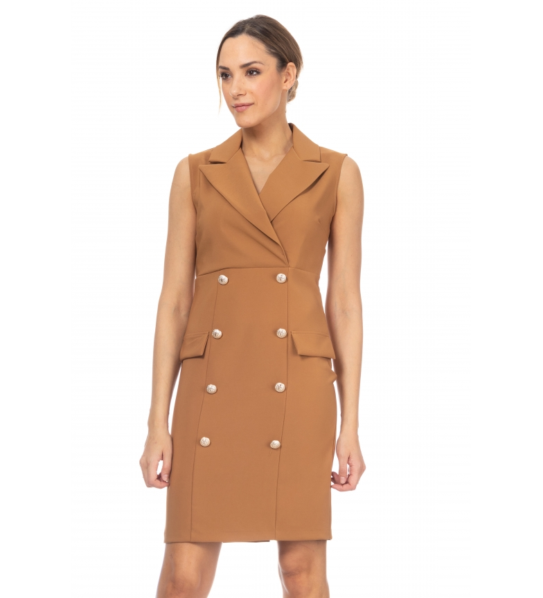 Comprar Tantra Collared dress with camel lapel