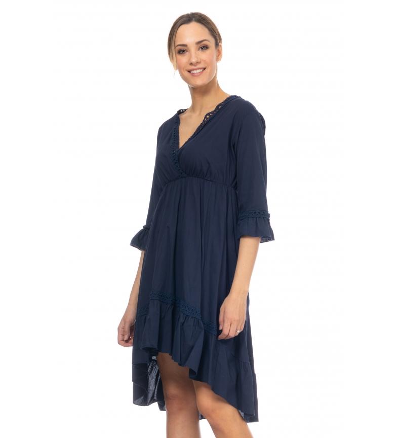 Comprar Tantra Vestido con Detalles de Crochet marino