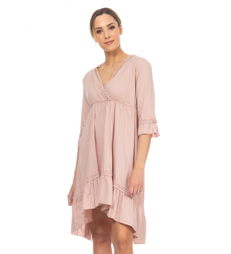 Comprar Tantra Dress with pink crochet detail