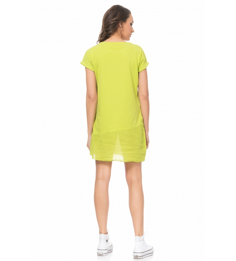 Tantra Verde Tantra Con Print Print Vestido Vestido Con Verde Vestido Con Tantra 2IHED9