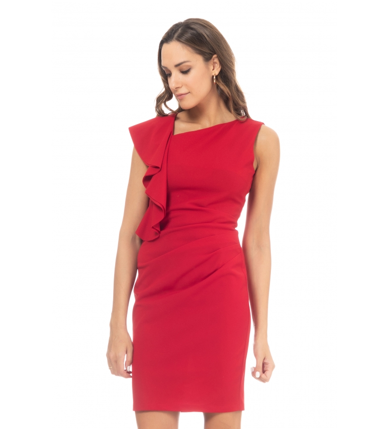 Comprar Tantra Vestido con Volantes rojo