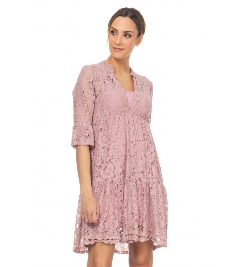 Comprar Tantra Vestido de Encaje con Cuello en V rosa