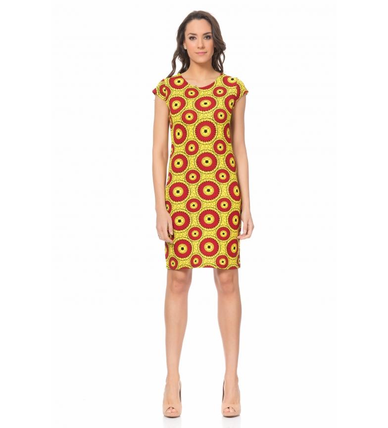 Amarillo Amarillo Tantra Vestido Vestido Geomtrico Vestido Tantra Tantra Geomtrico yIbg6vY7f