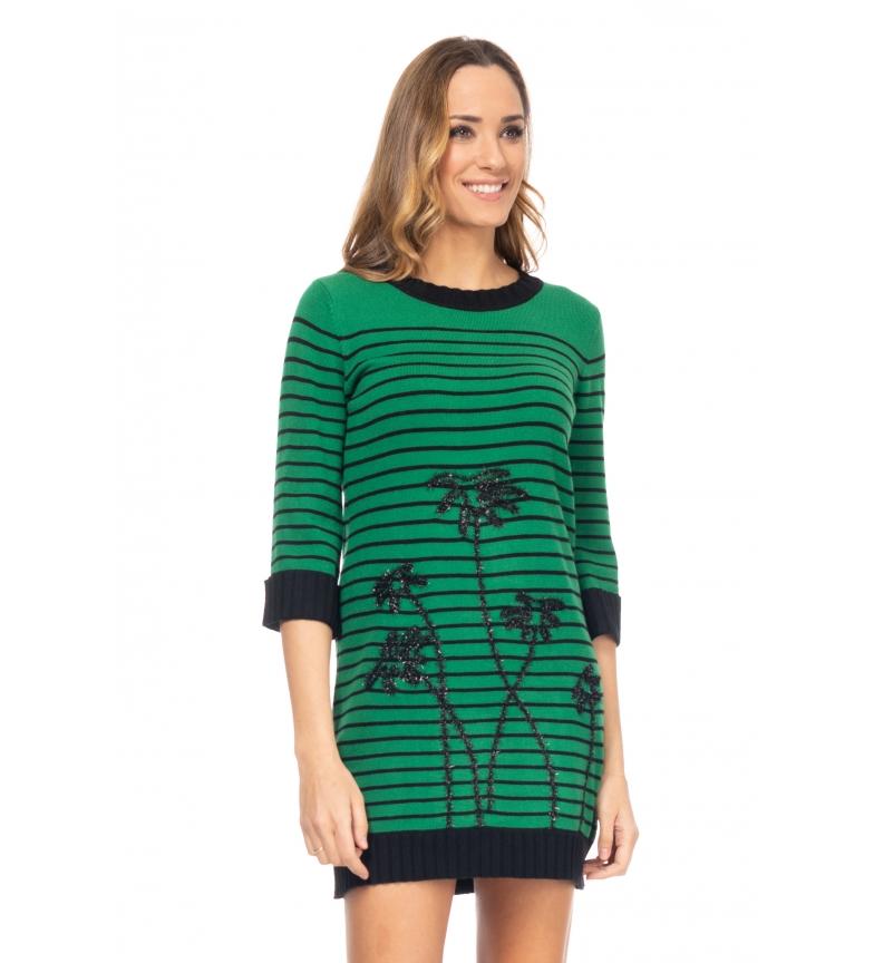 Comprar Tantra Abito in maglia ricamato verde