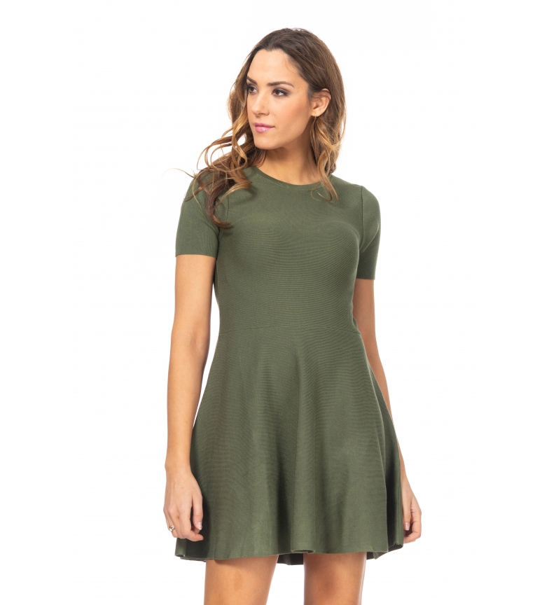 Comprar Tantra Vestido de malha com saia de voo verde
