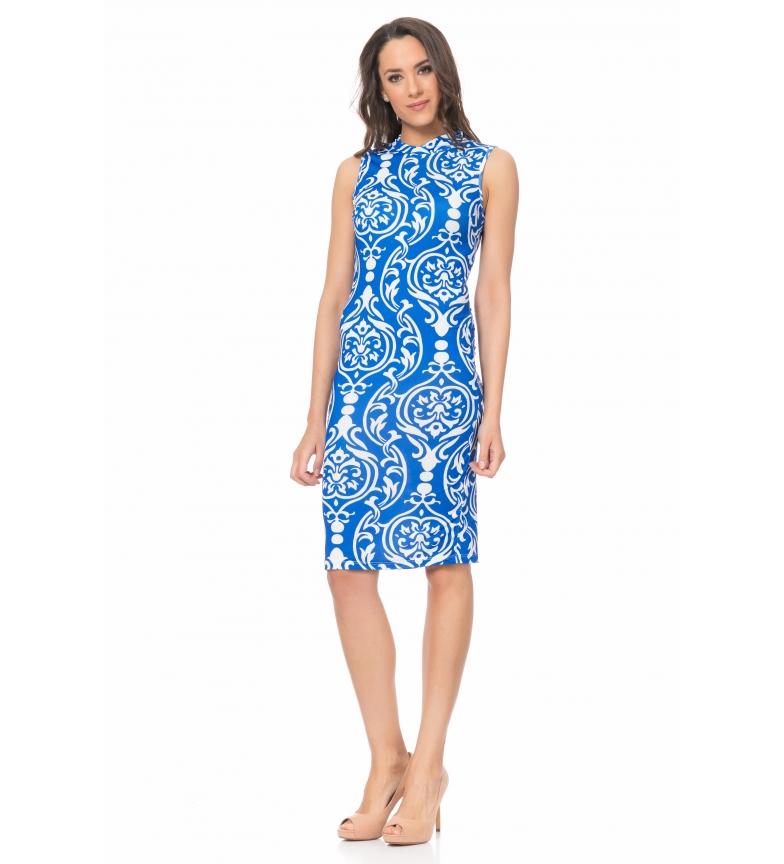7dc675d1896b2 Comprar Tantra Vestido estampado geométrico azul - Esdemarca Store ...