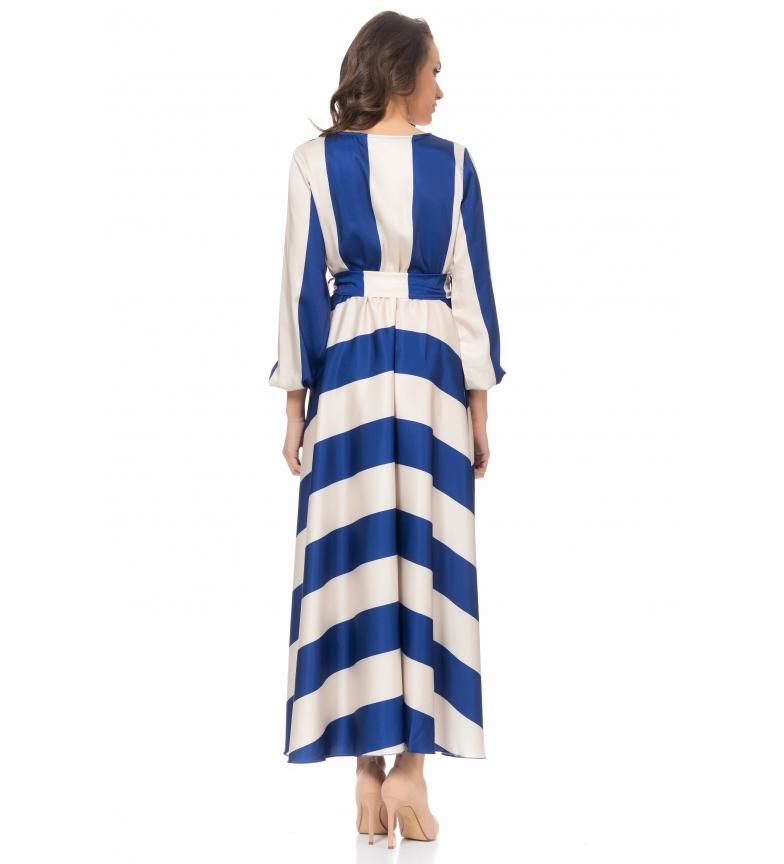 Vestido AzulBlanco Vestido Tantra Rayas Tantra Tantra De De Vestido Rayas AzulBlanco bY7gf6y