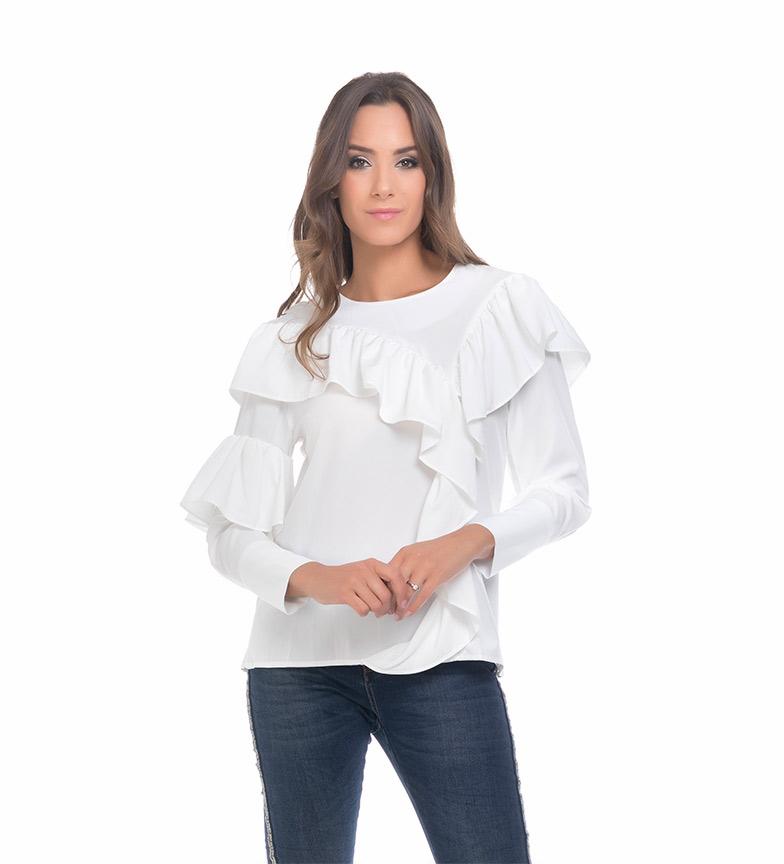 e6e9eb42140c Comprar Tantra Blusa Volantes blanco - Tienda Esdemarca moda ...