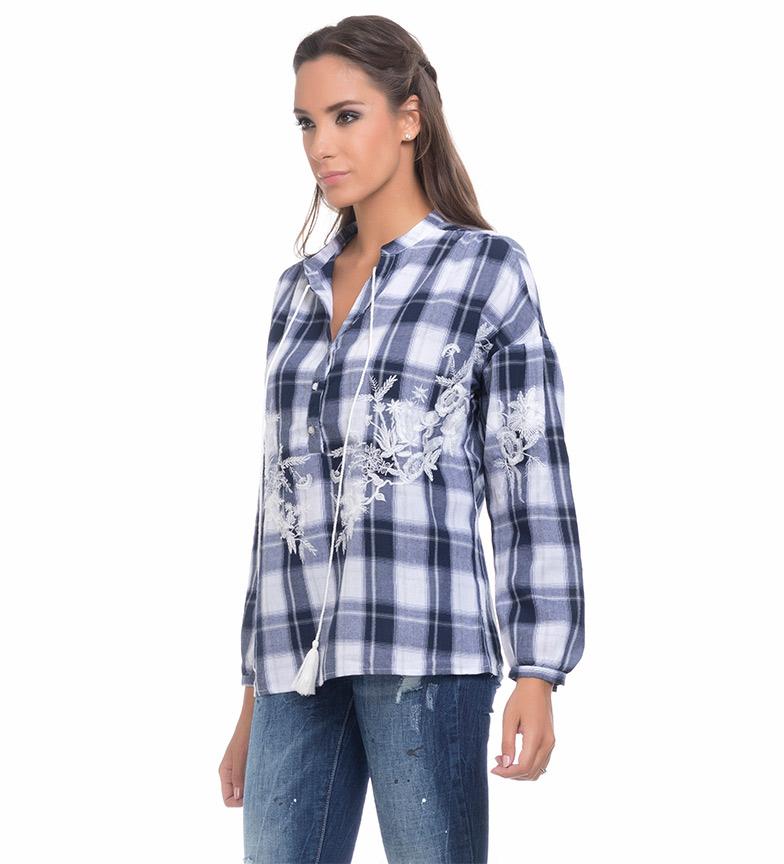 Comprar Tantra Blusa Cuadros azul