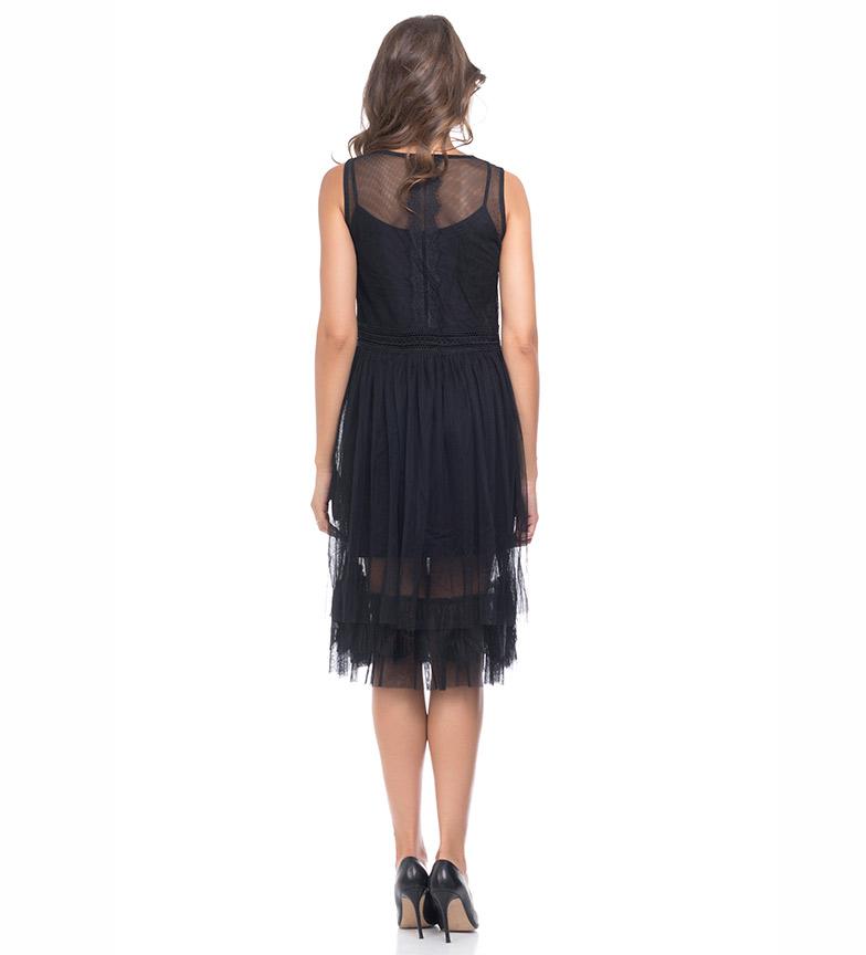 Vestido Tantra Encajes Encajes Negro Tantra Vestido lFK1cJ