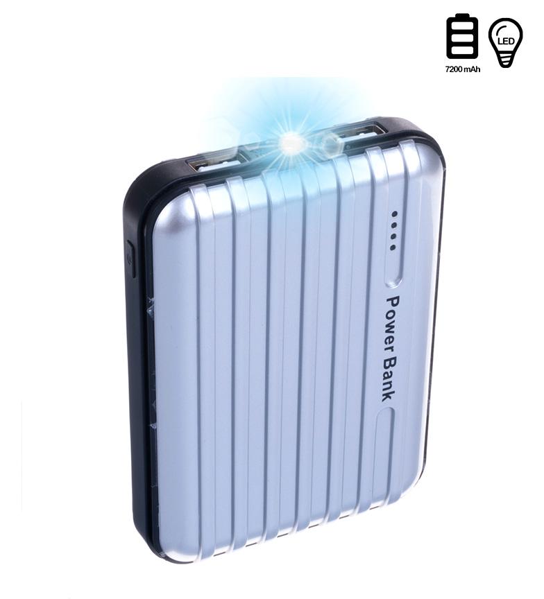 Comprar Tekkiwear by DAM Batería plata 7200mAh doble USB con luz incorporada -8x2,5x10,8cm-