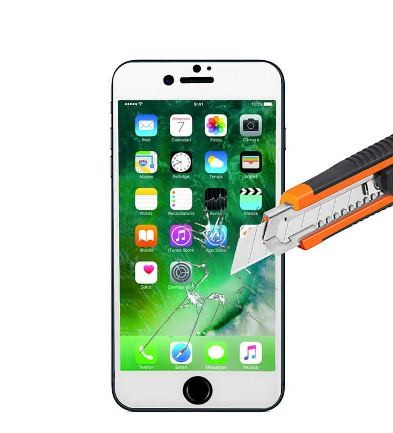 Comprar Tekkiwear by DAM Thermo-tempered screen protector Iphone 7, Iphone 7 Plus white
