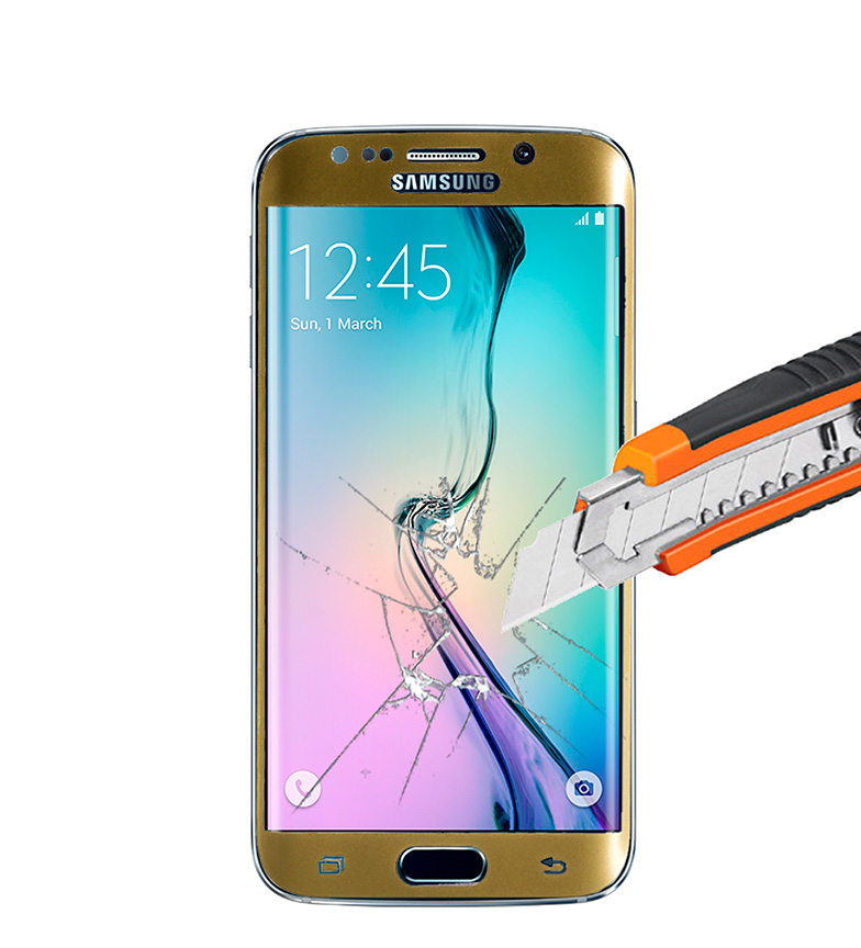 Comprar Tekkiwear by DAM Thermo-tempered protector Samsung S6 - EDGE gilded