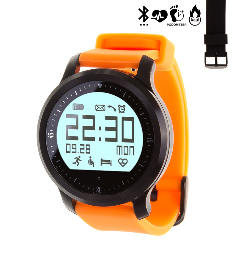 Comprar Tekkiwear by DAM Intelligent sports watch with bluetooth 4.0 with 2 interchangeable straps F68 Sport orange