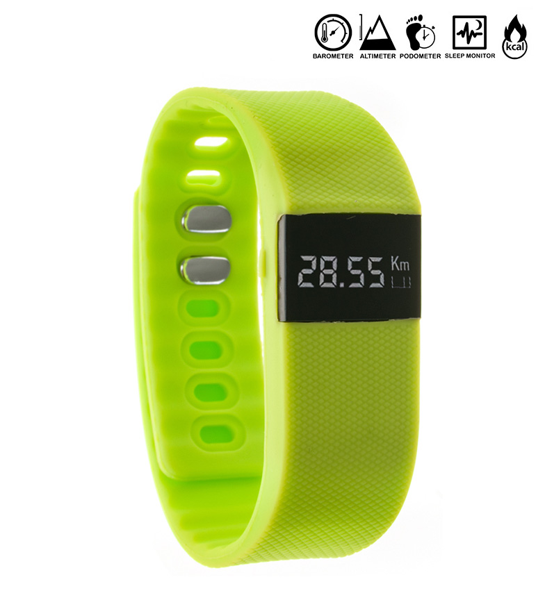 Comprar Tekkiwear by DAM Montre numérique avec Green Band Bluetooth 4.0 Galaxy BT