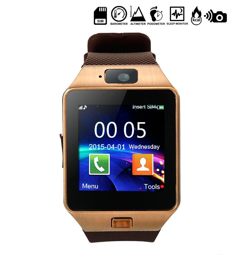 Comprar Tekkiwear by DAM Digital clock with bluetooth and SIM card Type 3 brown