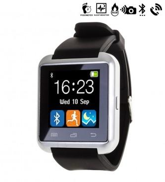 Comprar Tekkiwear by DAM Orologio digitale multifunzione con Bluetooth e vivavoce nero universale, argento