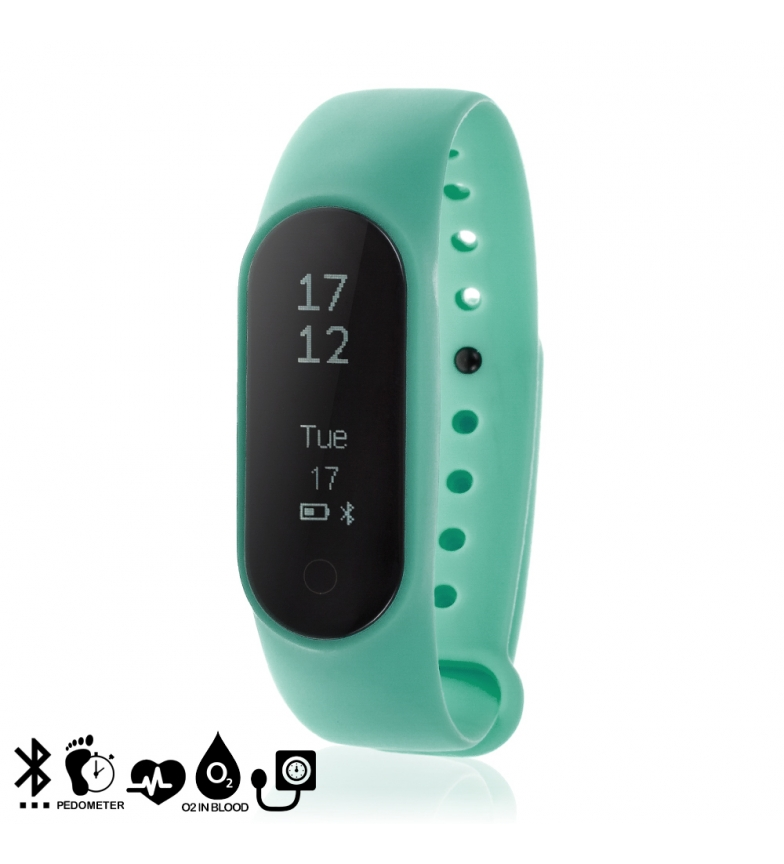 Comprar Tekkiwear by DAM Pulseira inteligente Y2 Plus com monitor cardíaco, pressão arterial, oxímetro, pedômetro e notificações