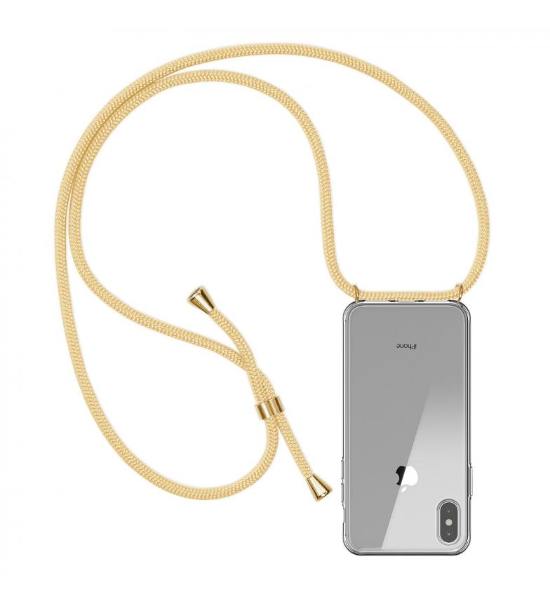 Comprar Tekkiwear by DAM Carcasa transparente iPhone X con colgante de nylon. Accesorio de moda, ajuste perfecto y máxima protección