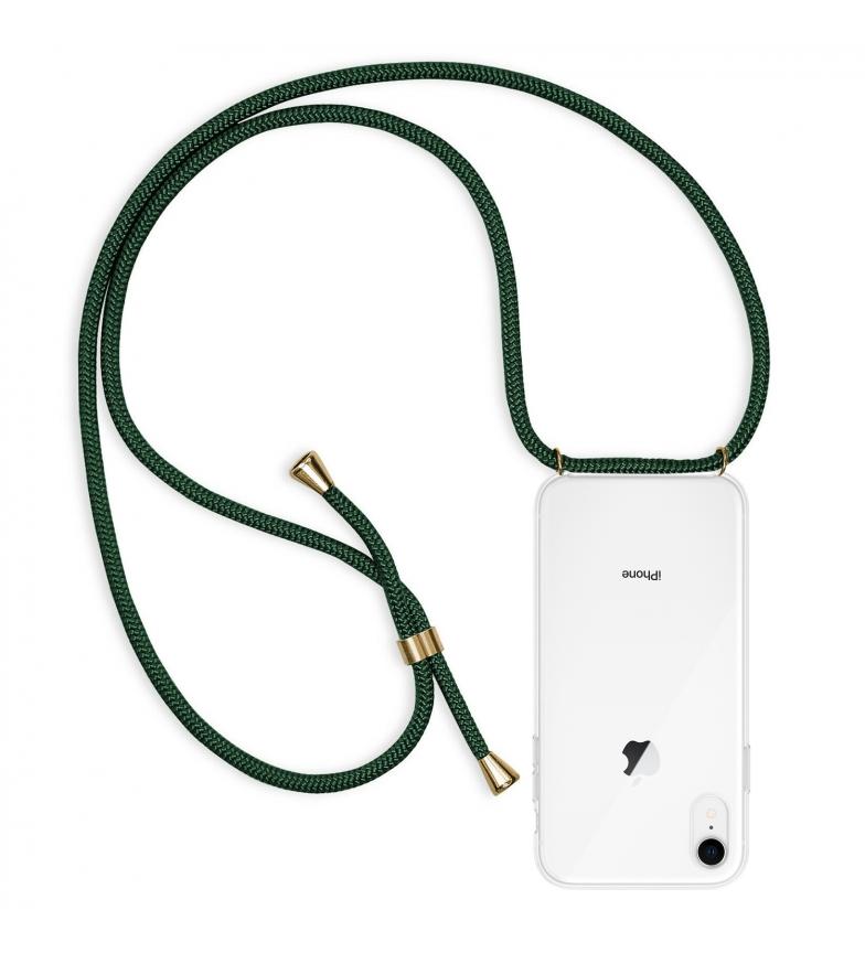 Comprar Tekkiwear by DAM Carcasa transparente iPhone XR con colgante de nylon. Accesorio de moda, ajuste perfecto y máxima protección