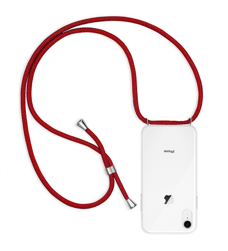 Comprar Tekkiwear by DAM Transparent iPhone XR case with nylon pendant. Fashion accessory, perfect fit and maximum protection