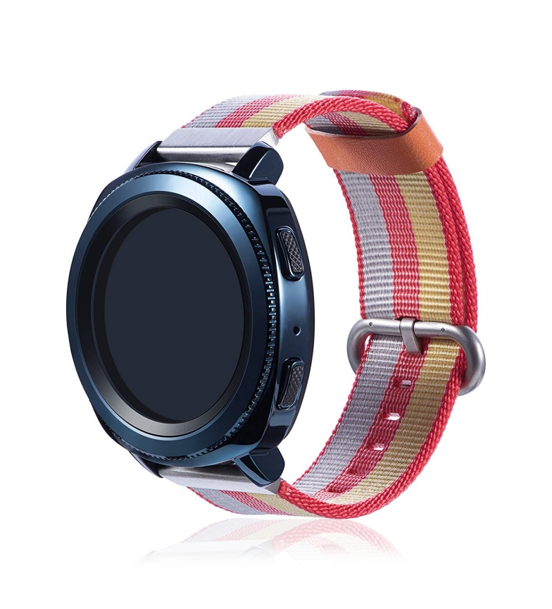 Comprar Tekkiwear by DAM Universal canvas strap canvas striped design for watches of 22mm Quick Release System easy change.