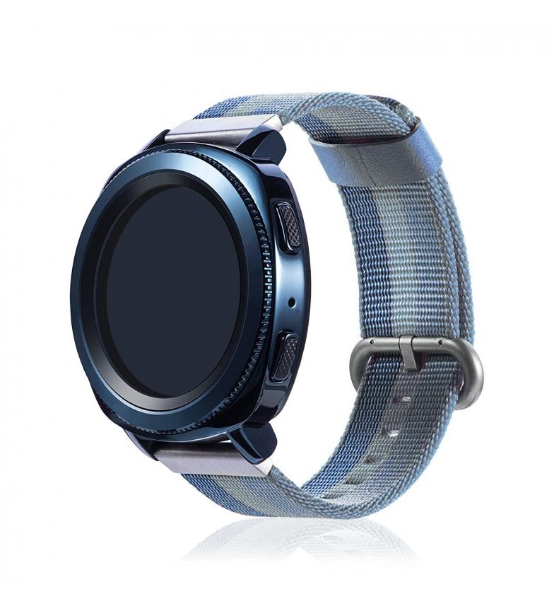 Comprar Tekkiwear by DAM Correa universal de lona canvas rayado diseño para relojes de 22mm.Sistema Quick Release de fácil cambio.