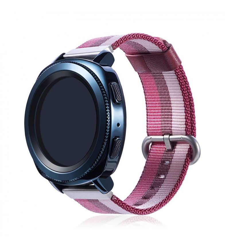 Comprar Tekkiwear by DAM Universal lona tira de lona de lona listrada design para relógios de 22 milímetros Quick Release System fácil mudança.